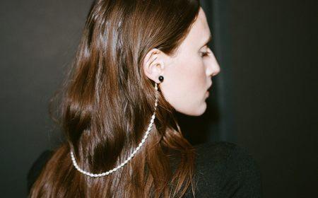 Kindred Black Cloak Earrings - 14k white gold/Onyx