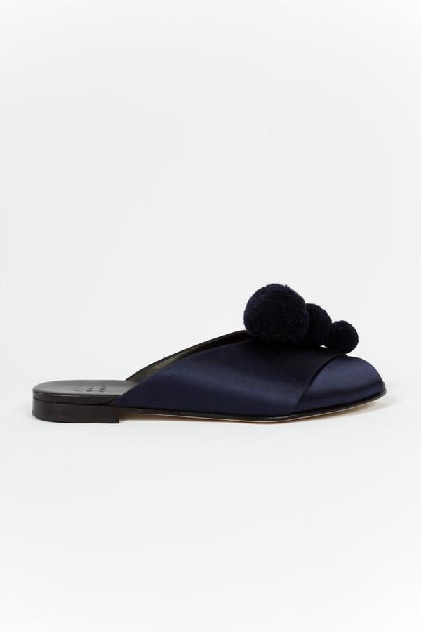 Trademark Pajama Sandal Pom Poms