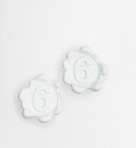 MM6 Maison Margiela Logo Earrings - White