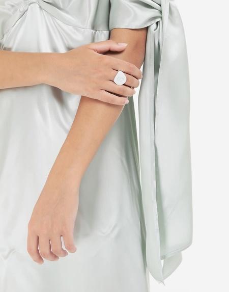 MM6 Maison Margiela 6 Logo Ring - Matte White