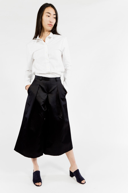 You Must Create Satin Culottes - Navy