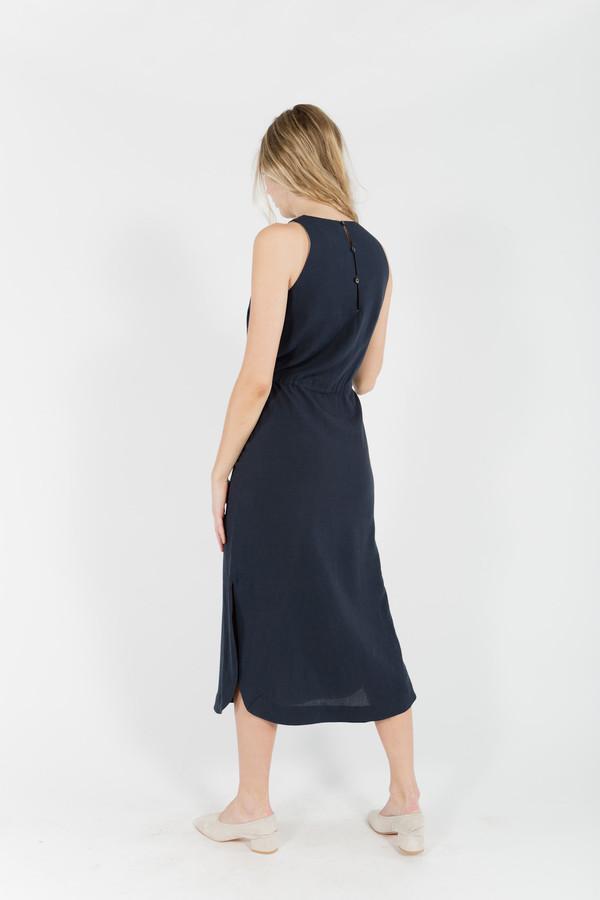 7115 by Szeki Sleeveless Over Knee Dress