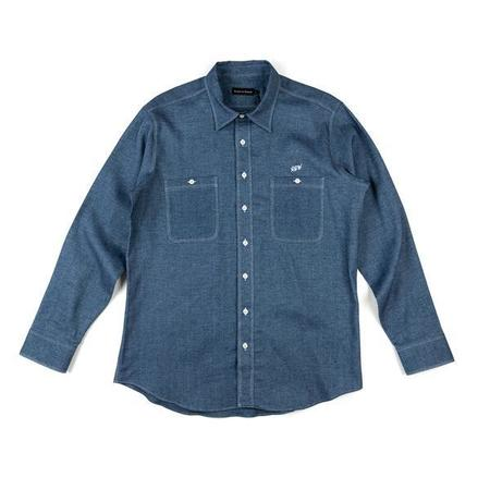 Raised by Wolves Flannel Work Shirt - Chambray
