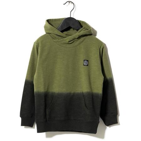 kids sometime soon fade sweatshirt - green dip dye