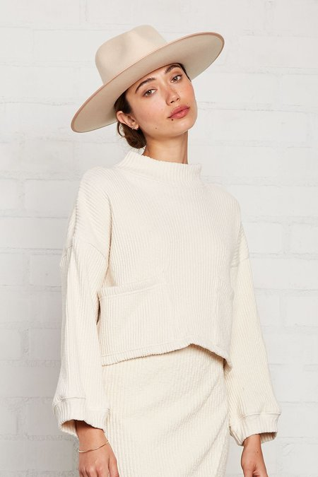 Rachel Pally Sweater Rib Jude Top - Oatmeal