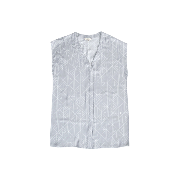 Ali Golden BUTTON-DOWN SHIRT - GREY PRINT