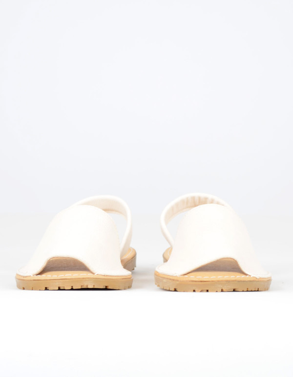 Alejandrina's Menorca Sheep Leather Shoe Ivory
