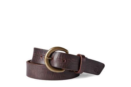 RRL Terrance Tumbled Leather Belt - Brown