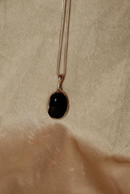 FARIS OVO Necklace - Silver/Onyx