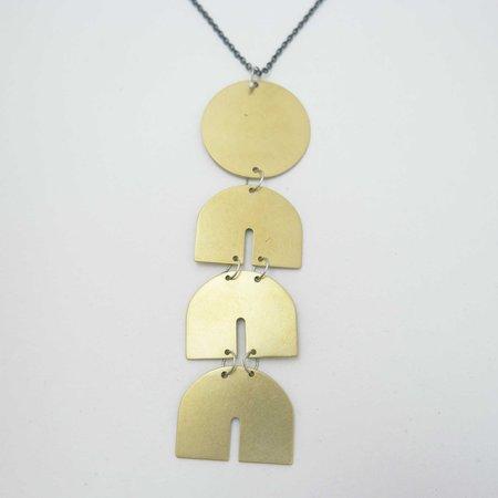 Natalie Joy Telesto Necklace - Monochrome Brass