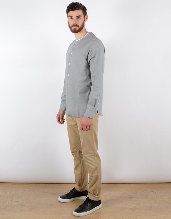 Filippa K Baseball Denim Shirt Light Grey Denim