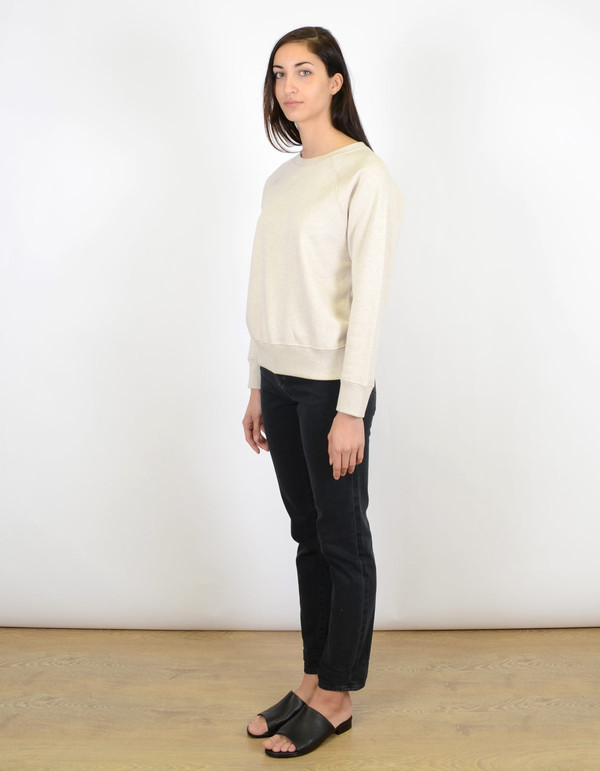 Filippa K Cotton Cashmere Sweater Pebble Melange