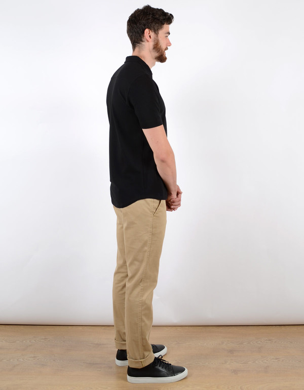Filippa K Men's Pique SS Poloshirt Black