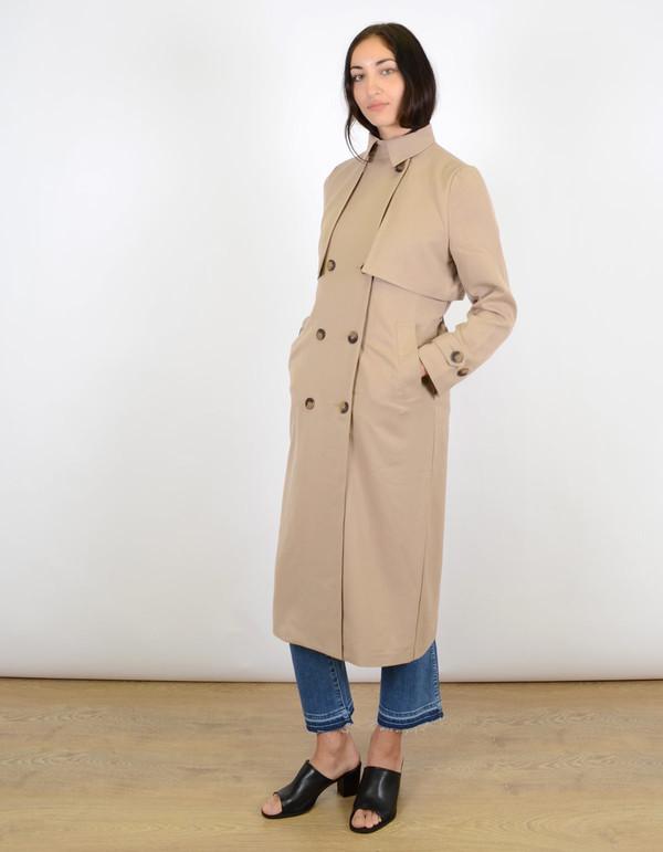 Ganni Brown Coat Praline