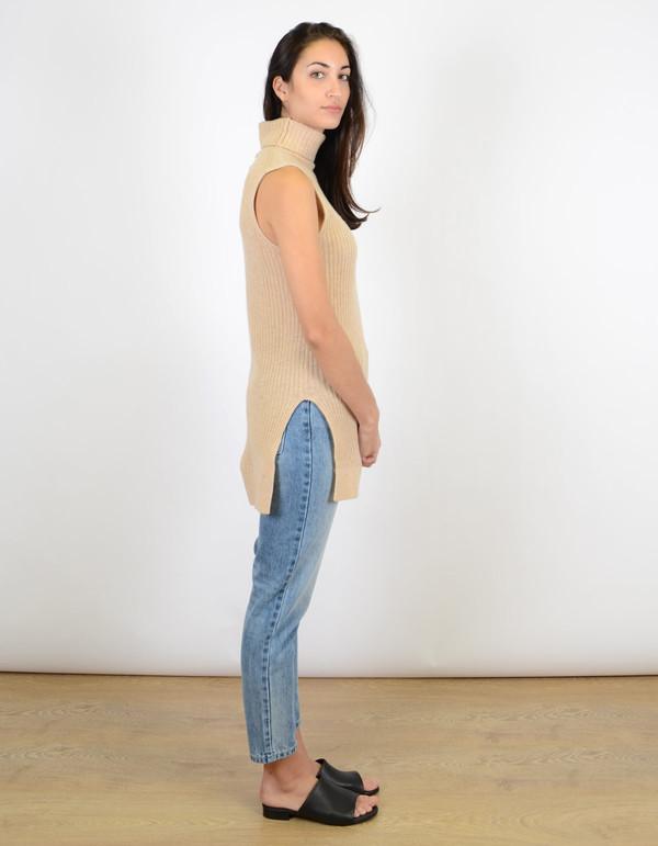 Ganni Mercer Vest Ivory Cream Melange