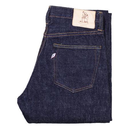 PURE BLUE JAPAN SLB 16.5OZ INDIGO SLUB DENIM RELAXED TAPERED jeans
