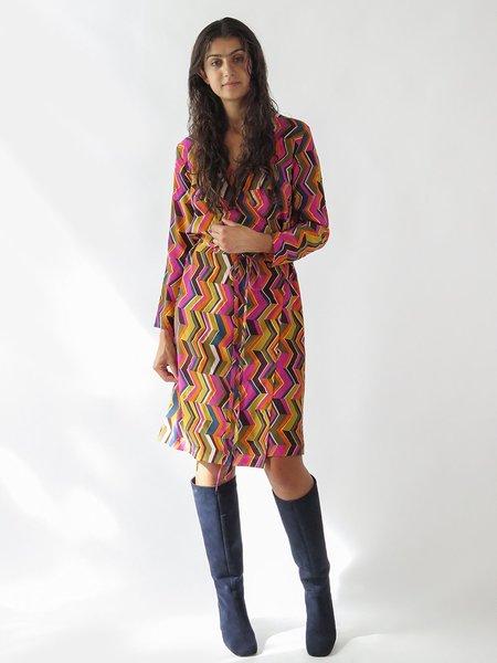 Erica Tanov royal dress - zig zag