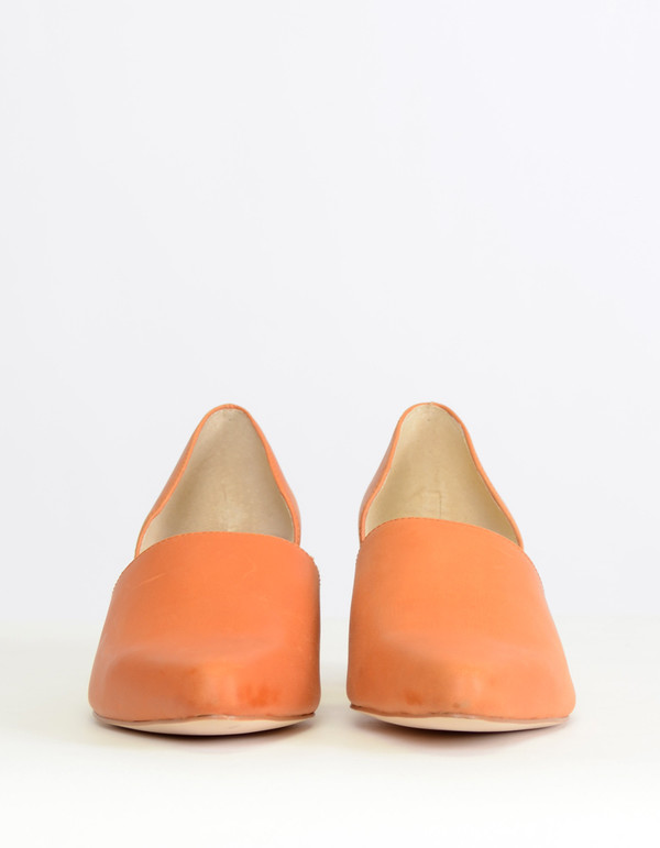 Intentionally Blank Perf D'Orsay Heel Orange
