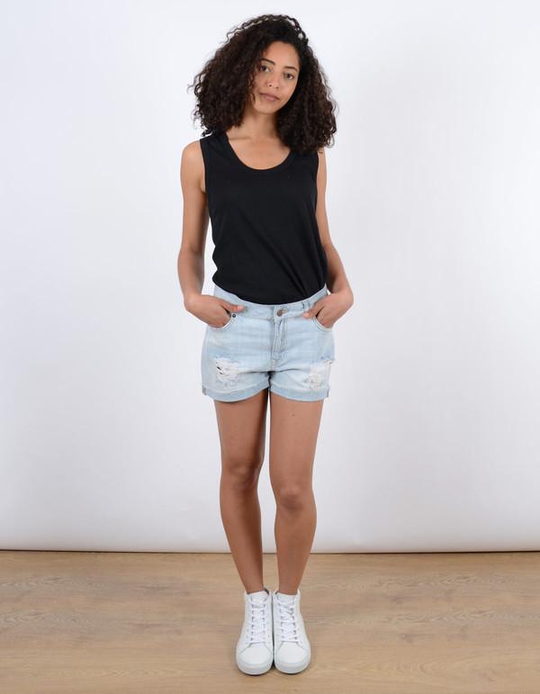 Just Female Bold Destroyed Shorts Light Blue
