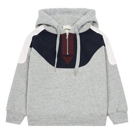 kids simple kids hoodie sweatshirt - grey