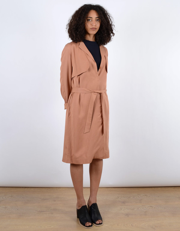 Just Female Trust Trenchcoat Toasted Nut