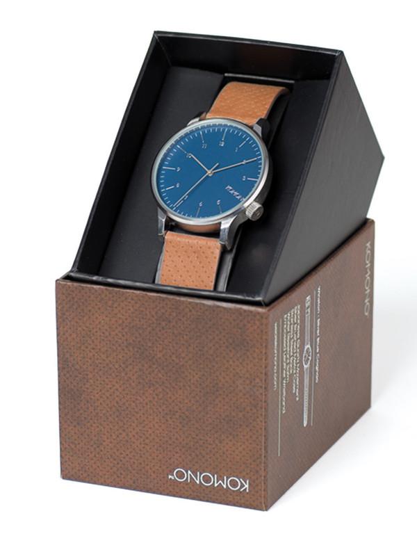 Komono Winston Watch Blue Cognac