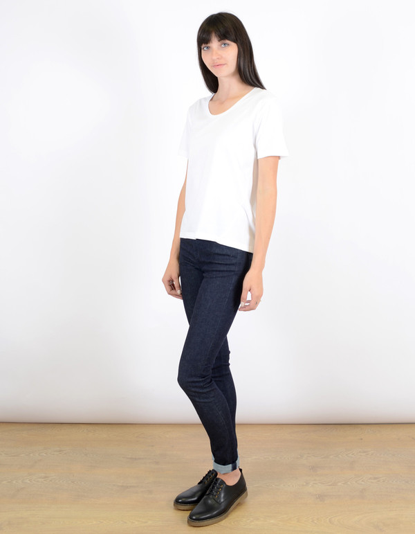 Kowtow Building Block Scoop Tee White