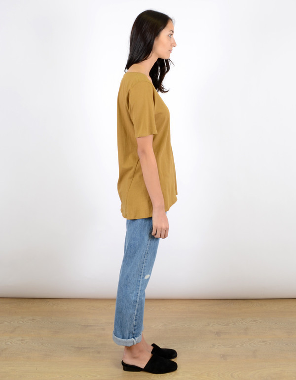 Kowtow Building Block V Tee Gold