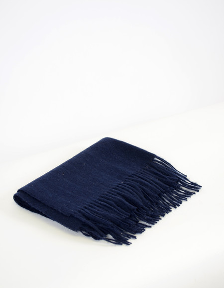 Minimum Gry Wool Scarf Winter Blue