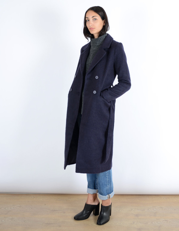 Minimum Sebina Wool Trench Coat Graphite