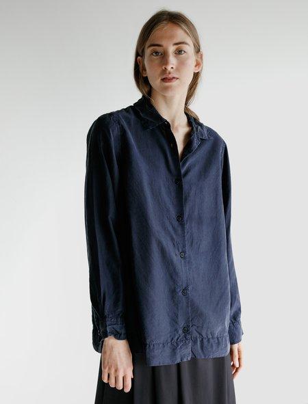 Casey Casey Womens Chloe Silk Shirt - Navy