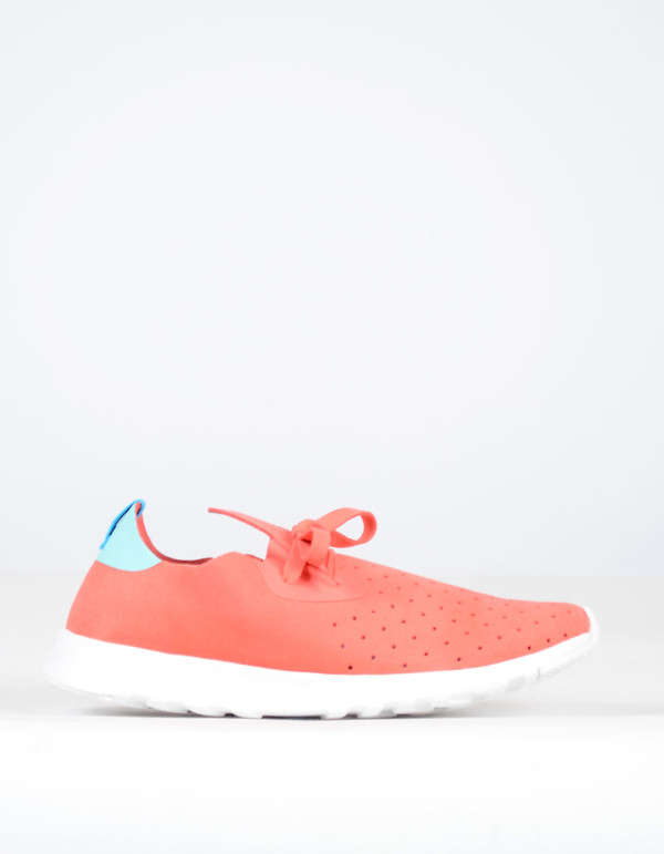 Native Shoes Native Apollo Moc Snapper Red with Cabo Blue and Shell White