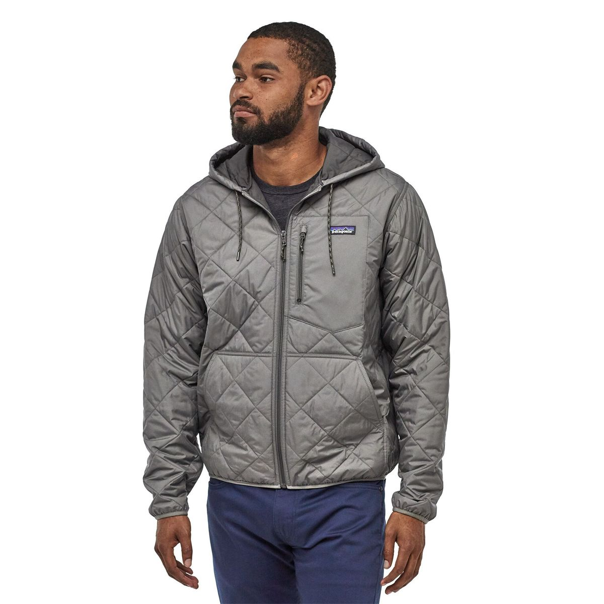 Patagonia Diamond Quilted Bomber Hoody - Hex Grey