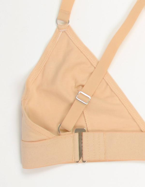 Nude Label Triangle Cross-Back Bra Nude