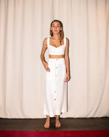Le Kasha Giza Skirt - Ivory
