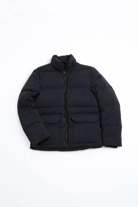 Officine Generale Woven Lenny Coat - Black
