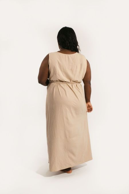 Two Fold Clothing Kayo Raw Silk Dress - Sand