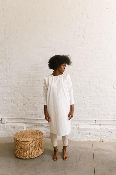 Two Fold Clothing Rebecca Cotton Poplin Dress - White