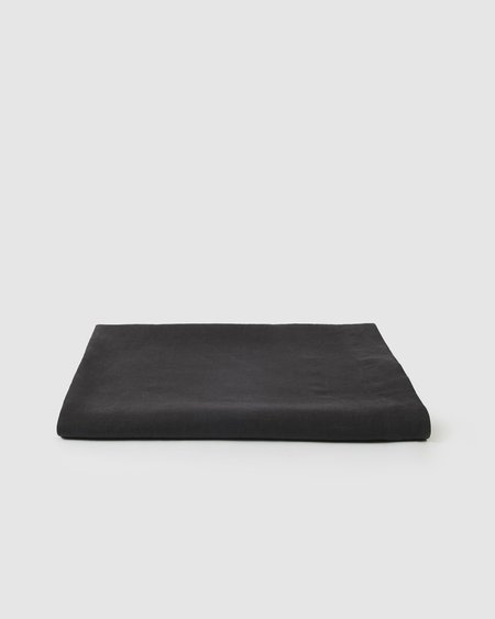 Sunday Morning Babette Linen Tablecloth - Charcoal
