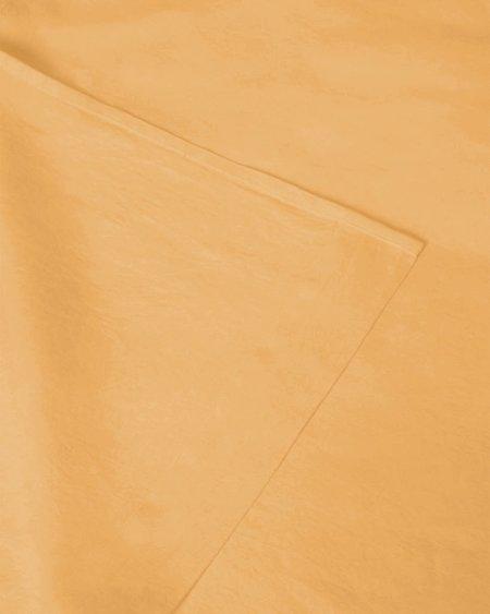 Shop Sunday Morning Marcel Linen Fitted Sheet - Mustard