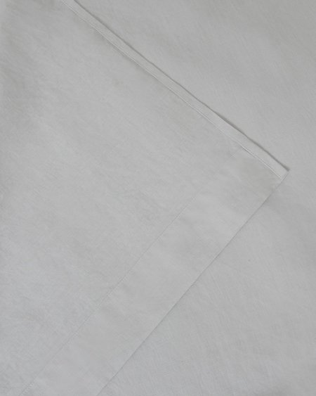 Shop Sunday Morning Marcel Linen Flat Sheet - Glacier