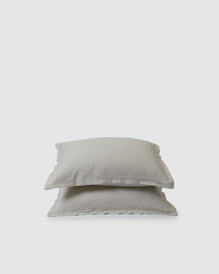 Shop Sunday Morning Marcel Linen Pair Pillowcases - Dove