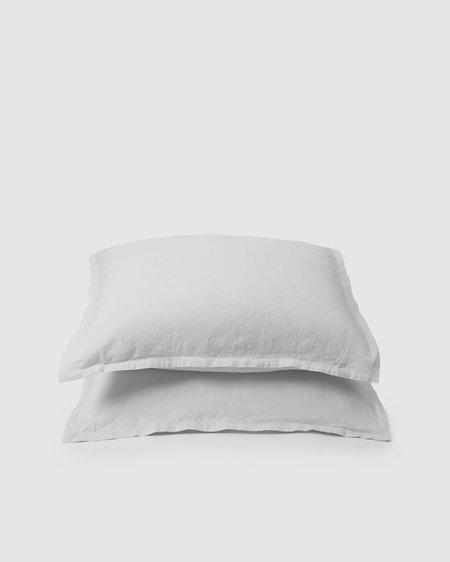 Shop Sunday Morning Marcel Linen Pair Pillowcases - Milk