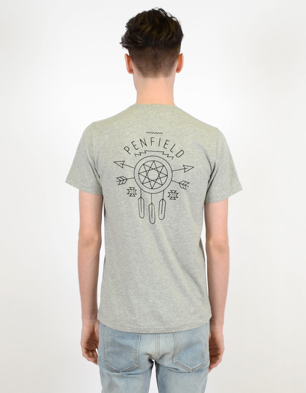 Men's Penfield Dreamcatcher Tee Grey