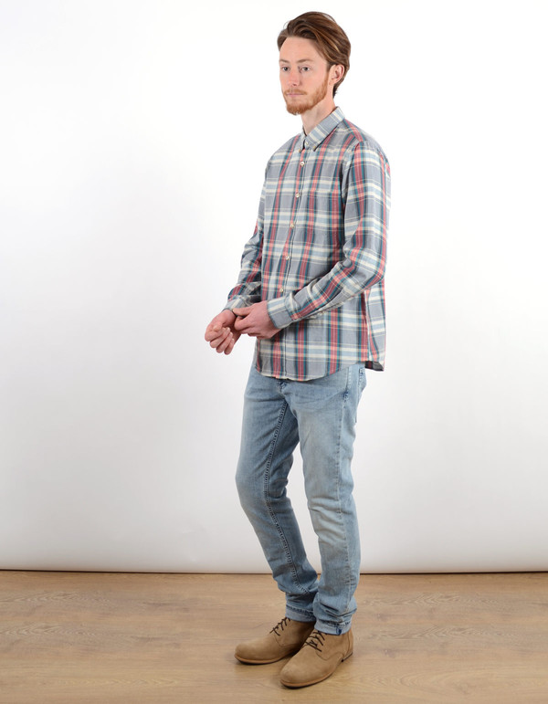 Men's Portuguese Flannel Alquieve Shirt Grey