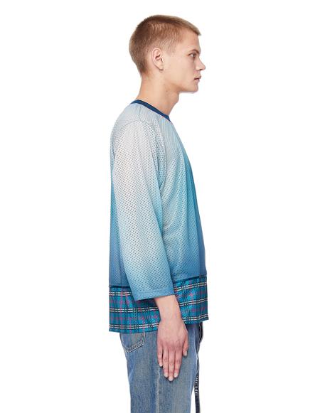 Pigalle Gradient Mesh Longsleeve T-Shirt - Blue