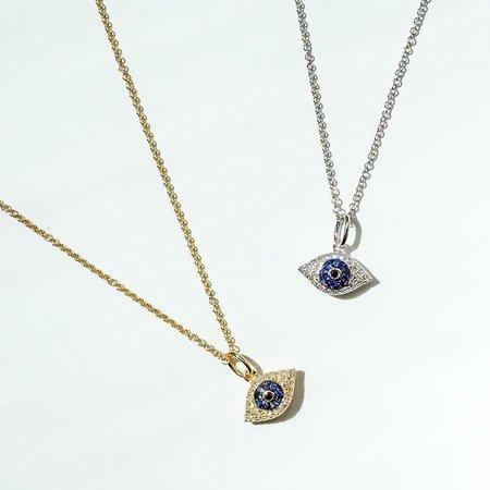 Diamond Dream Signature Collection Evil Eye Necklace - 14k Gold/Diamonds