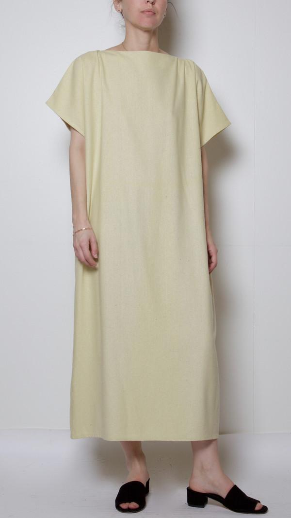Baserange Sevinc Tee Dress in Egg Yellow