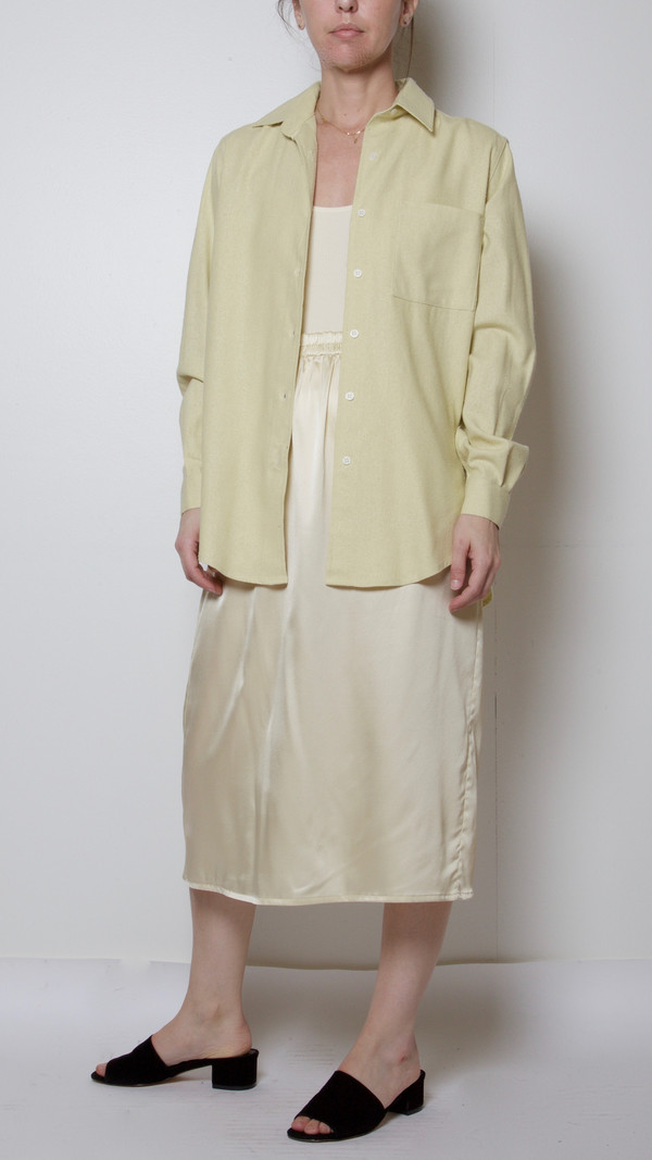 Baserange Silk Basic Shirt in Egg Yellow