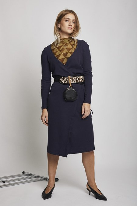 Lisa Says Gah Lucille Midi Dress - Navy